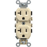 Receptacle Duplex 20A Ivory 5-20R (10)